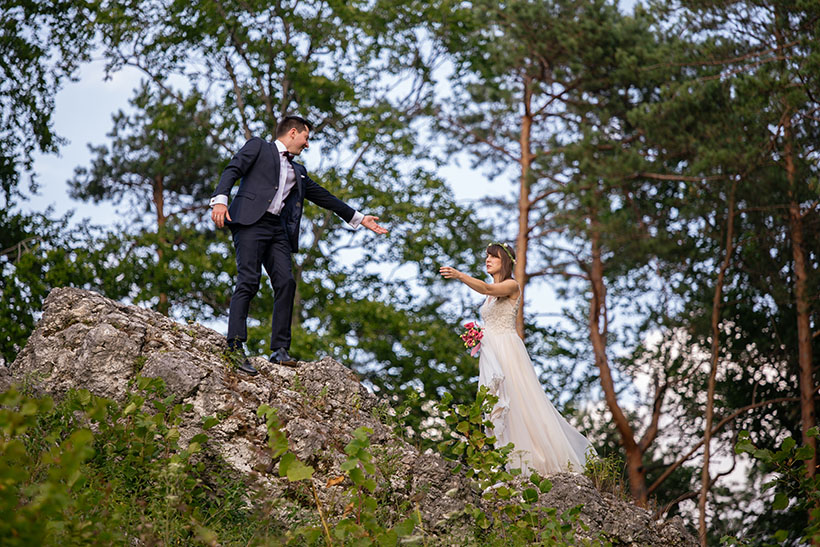 Plener ślubny na Jurze