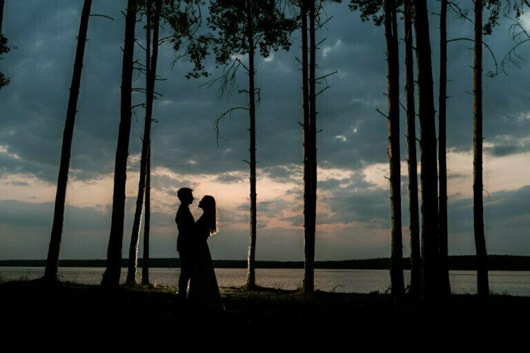 plener ślubny nad zalewem sulejowskim