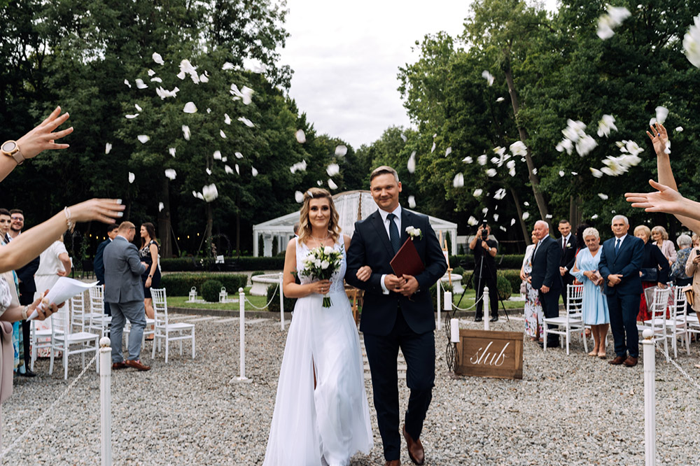 Pałac w Pstrokoniach – ślub Aliny i Łukasza